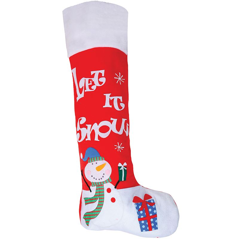 JUMBO CHRISTMAS STOCKING (RED)